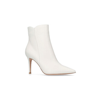 Giày Gianvito Rossi nữ 70 mm Square Toe Calf Leather Bootie chính hãng