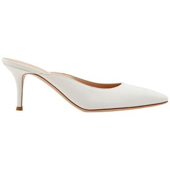 Giày Gianvito Rossi nữ 70 mm Sqaure Toe Calf Leather Mules chính hãng