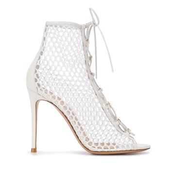Giày Gianvito Rossi Helena 105 Net Sandal Bootie chính hãng sale giá rẻ