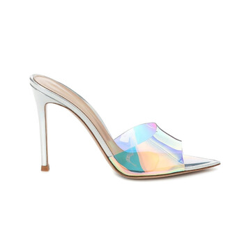 Giày Gianvito Rossi nữ Elle 105 Hologram Plexi Iridescent PVC Sandals chính hãng