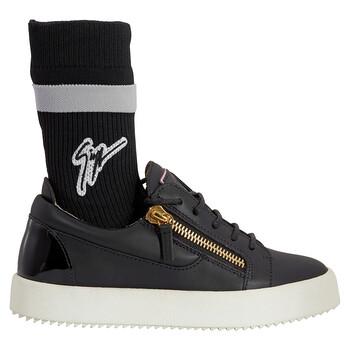 Giày Giuseppe Zanotti nữ màu đen Lotop Zip Sock Sneakers chính hãng sale giá rẻ