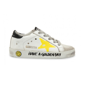 Giày Golden Goose Deluxe Brand Kids Painted Star And Lettering Superstar Sneakers chính hãng