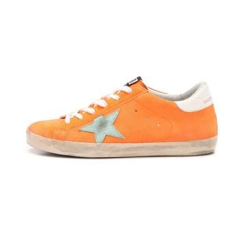 Giày Golden Goose Deluxe Brand nữ Superstar màu vàng cam Suede Sneakers chính hãng sale giá rẻ