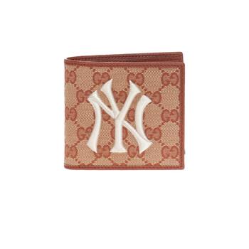 Gucci Brown New York Yankees Patch Original GG Coin Ví Chính hãng từ Mỹ