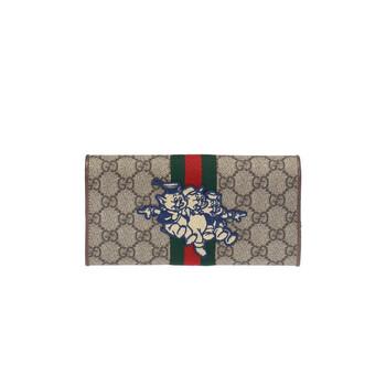 Gucci Brown Web Stripe Ví With Patch Chính hãng từ Mỹ