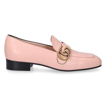 Giày Gucci Double G Leather Loafers màu hồng chính hãng sale giá rẻ