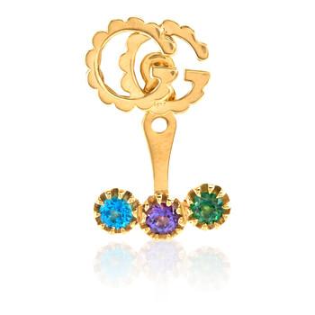 Trang sức Gucci Running G Vàng 18K với Topaz Earring chính hãng sale giá rẻ Hà nội TPHCM