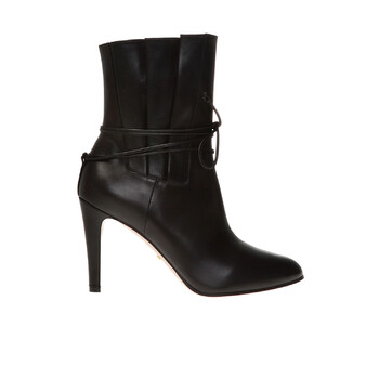 Giày Gucci Gathemàu đỏ Bow Detail Ankle Boots