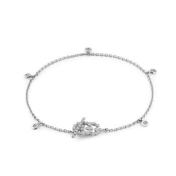 Trang sức Gucci GG Running Vàng trắng Kim cương Toggle Vòng đeo tay chính hãng sale giá rẻ Hà nội TPHCM