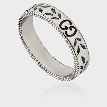Trang sức Gucci Icon Vàng trắng Nhẫn- Brand Size 12 (6 US) chính hãng sale giá rẻ Hà nội TPHCM