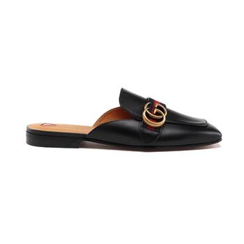 Giày Gucci nữ màu đen Leather Slippers chính hãng