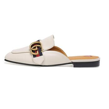 Giày Gucci nữ GG Leather Slippers chính hãng