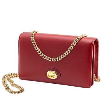 Gucci Nữ GG Plaque Chain đựng thẻ Ví Chính hãng từ Mỹ