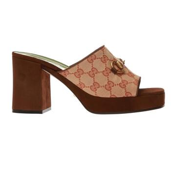 Giày Gucci nữ GG Platform Slide Sandals chính hãng
