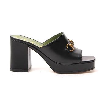 Giày Gucci nữ Mid-heel Platform Slide Sandals chính hãng