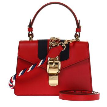 Gucci Nữ Sylvie Da Mini Túi đeo vai màu đỏ Chính hãng từ Mỹ