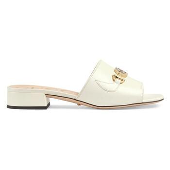 Giày Gucci nữ màu trắng Zumi Slide Sandals chính hãng