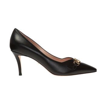 Giày Gucci nữ Zumi Mid-Heel Pumps màu đen chính hãng sale giá rẻ