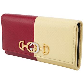 Gucci Nữ Zumi Tri - color Da Continental Ví Chính hãng từ Mỹ