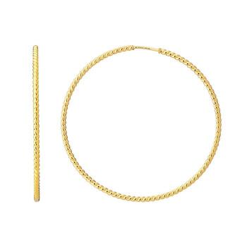 Trang sức Gucci Le Marche des Merveilles Yellow Gold Hoop Bông tai (khuyên tai