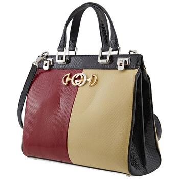 Gucci đa màu sắc Zumi Python size trung Top Handle Bag Chính hãng từ Mỹ
