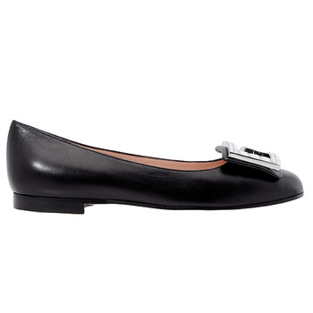 Giày Gucci Madelyn Leather Ballet flat with Crystal G chính hãng