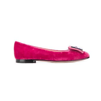Giày Gucci Square G Velvet Madelyn Ballerinas chính hãng