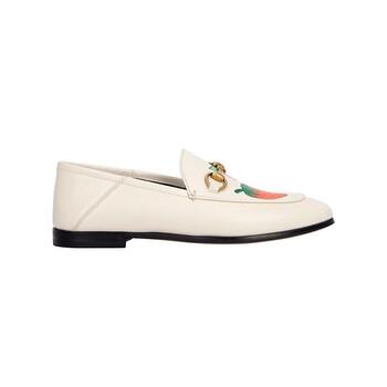 Giày Gucci Strawberry Print Horsebit Loafers chính hãng