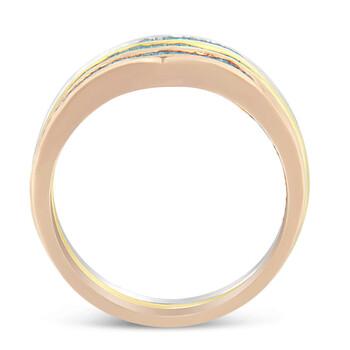 Trang sức Haus Of Brilliance 10K Gold 1/2ct TDW Treated Blue Baguette Kim cương Stackable Nhẫn Set(I2-I3) chính hãng sale giá rẻ Hà nội TPHCM