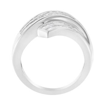 Trang sức Haus Of Brilliance Vàng trắng 10K 1/2 ct TDW Kim cương Bypass Nhẫn (I-J