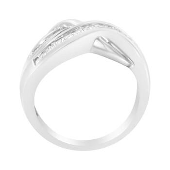 Trang sức Haus Of Brilliance Vàng trắng 10K 1/2ct TDW Kim cương Bypass Nhẫn (H-I