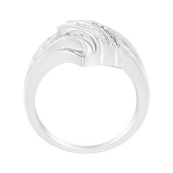 Trang sức Haus Of Brilliance Vàng trắng 10K 1/4ct TDW Kim cương Bypass Nhẫn (H-I
