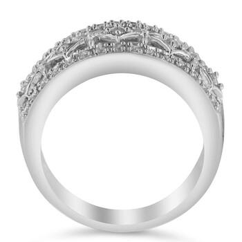 Trang sức Haus Of Brilliance Vàng trắng 10K 1/4ct TDW Kim cương Nhẫn (H-I