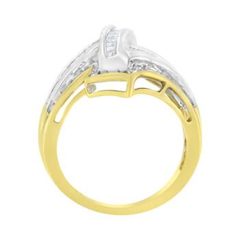 Trang sức Haus Of Brilliance 10K Yellow và Vàng trắng 1/2 Carat TDW Kim cương Cocktail Nhẫn (H-I