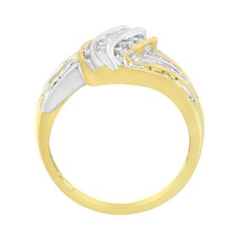 Trang sức Haus Of Brilliance 10K Yellow và Vàng trắng 1/2 ct TDW Kim cương Bypass Nhẫn (I-J