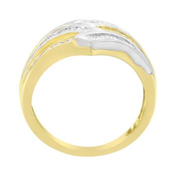Trang sức Haus Of Brilliance 10K Yellow và Vàng trắng 1/2 ct TDW Kim cương Crossover Nhẫn (H-I