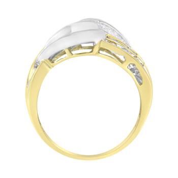 Trang sức Haus Of Brilliance 10K Yellow và Vàng trắng 3/4 Carat TDW Kim cương Bypass Nhẫn (H-I