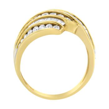 Trang sức Haus Of Brilliance Vàng 10K 1 1/2ct TDW Kim cương Bypass Nhẫn (H-I