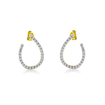 Trang sức Haus Of Brilliance Vàng 10K 1/2ct TDW Kim cương Hoop Bông tai (khuyên tai