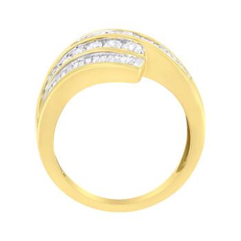 Trang sức Haus Of Brilliance Vàng 10K 1 ct TDW Kim cương Bypass Nhẫn (H-I