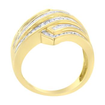 Trang sức Haus Of Brilliance Vàng 10K 1 ct TDW Kim cương Bypass Nhẫn (I-J