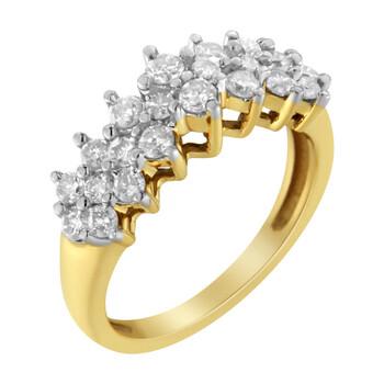 Trang sức Haus Of Brilliance Vàng 10K 1ct TDW Round Kim cương Nhẫn(J-K