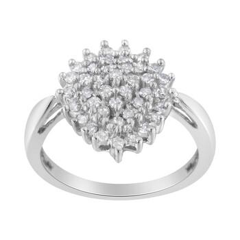 Trang sức Haus Of Brilliance 10kt Vàng trắng 1/2ct TDW Round cut Kim cương Nhẫn (H-I