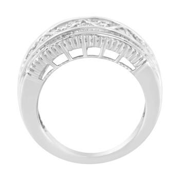 Trang sức Haus Of Brilliance 10kt Vàng trắng 1 Carat TDW Kim cương Modern Band Nhẫn (I-J