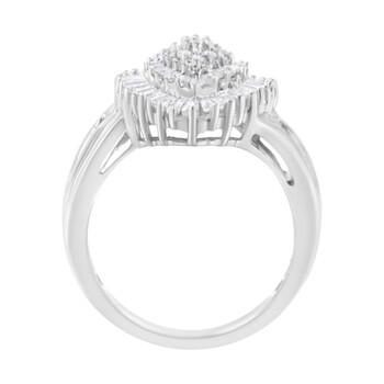 Trang sức Haus Of Brilliance 10kt Vàng trắng 1ct TDW Kim cương Cluster Nhẫn (H-I