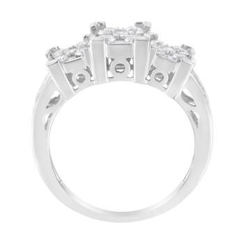 Trang sức Haus Of Brilliance 10kt Vàng trắng 1ct TDW Kim cương Modern Band Nhẫn (H-I