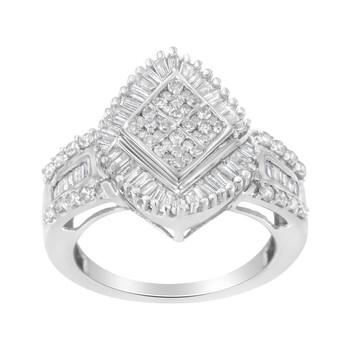 Trang sức Haus Of Brilliance 10kt Vàng trắng 1ct TDW Kim cương Nhẫn (I-J