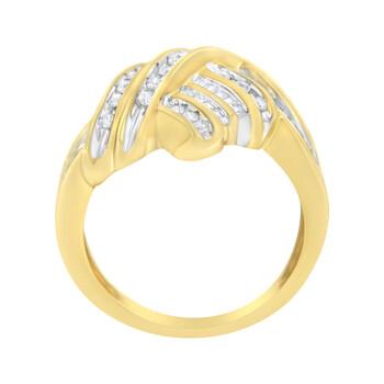 Trang sức Haus Of Brilliance 10kt Yellow Gold 1/2 Carat TDW Kim cương Bypass Nhẫn (H-I