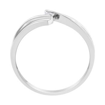 Trang sức Haus Of Brilliance Vàng trắng 14K 1/20ct TDW Princess cut Kim cương Promise Nhẫn (H-I