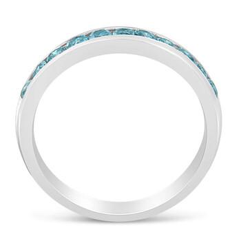 Trang sức Haus Of Brilliance Vàng trắng 14K 1/2ct TDW Treated Blue Round Kim cương Modern Band Nhẫn(I2-I3) chính hãng sale giá rẻ Hà nội TPHCM